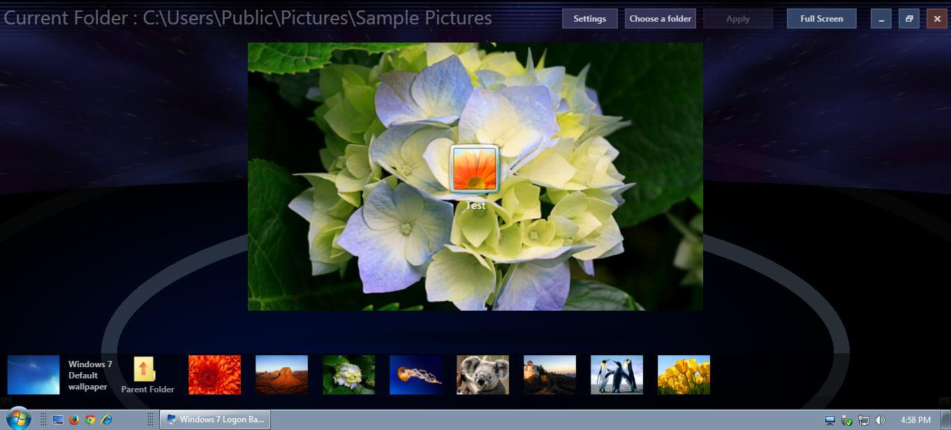 Windows 7 logon background changer download free for windows - Windows 7 wallpaper changer software ...
